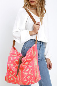 image Palm Desert Neon Pink Southwest Print Tote
