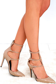 Kendall + Kylie Alisha Light Natural Leather Pointed Pumps Image