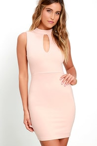 image Talk the Mock Blush Pink Bodycon Dress