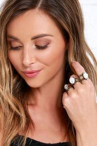 image Shine On Through Antiqued Gold Ring Set