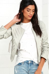 Blank NYC Through and Through Taupe Vegan Leather Jacket at Lulus.com!