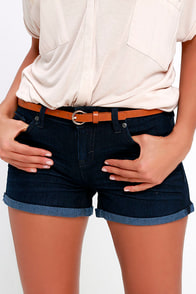 Dittos Angie Dark Wash Denim Shorts