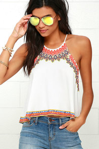 image Hypnotic Ivory Print Top