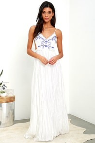 image Something to Sprout About Ivory Embroidered Maxi Dress