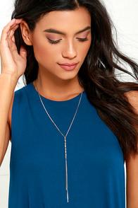 image Twist List Silver Necklace