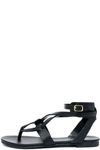 Boho Babe Black Thong Sandals