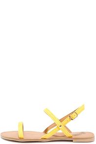 Makin' Faves Yellow Nubuck Flat Sandals