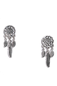 image Four Winds Silver Earrings
