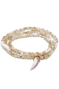 image Dazzling Finale Ivory Wrap Bracelet