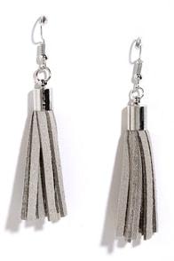 image Hang On Grey Tassel Earrings