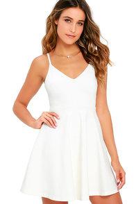 Meet Cute Ivory Skater Dress