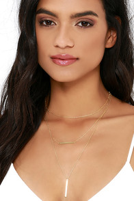 Watering Spring Gold Layered Necklace