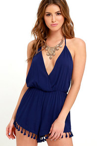 image Venezuela Vacation Navy Blue Halter Romper