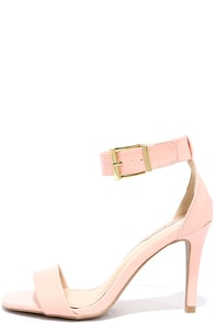 image Always Assured Peach Ankle Strap Heels