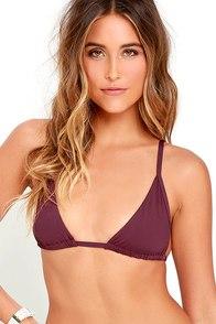 image Tavik Vivienne Burgundy Bikini Top