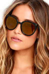 image Weekly Wind Down Black and Yellow Mirrored Sunglasses