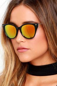image Foresight Black and Orange Cat-Eye Sunglasses