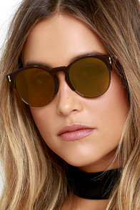 image Pay Day Brown and Yellow Mirrored Sunglasses