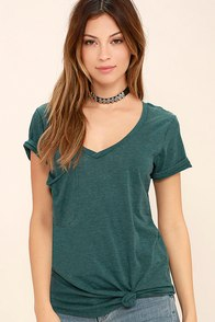image Z Supply Pleasant Surprise Teal Tee