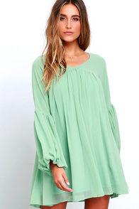 image Gentle Breeze Sage Green Babydoll Dress