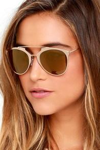 Top Stun Gold Sunglasses