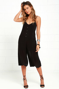 Amuse Society Misha Black Midi Jumpsuit