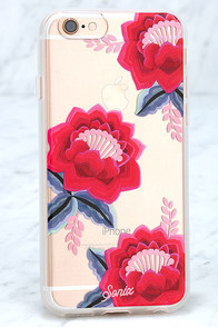 image Sonix Flora Red Floral Print iPhone 6 Case
