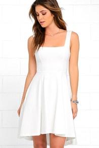 image Course of Action Ivory High-Low Dress