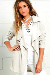 Gentle Fawn Fountain Ecru Trench Coat at Lulus.com!