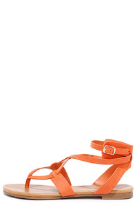 Boho Babe Papaya Orange Thong Sandals at Lulus.com!