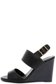 Orientation Black Wedge Sandals