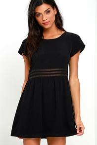 image Funky Fresh Black Mesh Dress