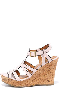 image Sea Star Blush Wedge Sandals