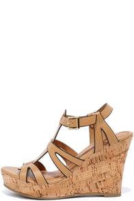 image Sea Star Tan Wedge Sandals