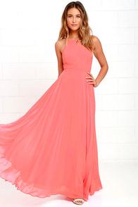 Chic Light Pink Dress - Halter Dress - Trapeze Dress - $58.00
