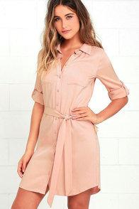 Acts of Love Blush Shirt Dress