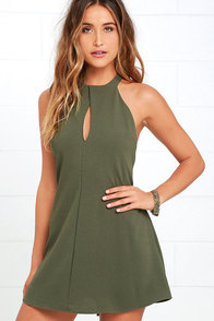 image Could It Be Magic Olive Green Dress