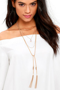 Close to the Edge Gold and Brown Layered Necklace