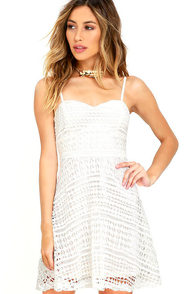 Hand in Mine Ivory Lace Dress
