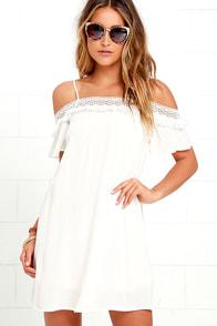 Make it Hot Ivory Lace Swing Dress