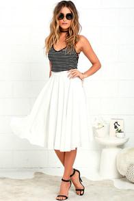 Dance Montage Ivory Midi Skirt