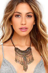 image Terrain Tamer Gold Statement Necklace