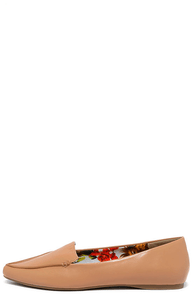 Work Week Natural Pointed Loafer Flats