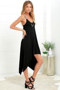 image Heroic Spirit Black Midi Dress