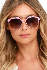 image All of My Days Gold and Pink Sunglasses