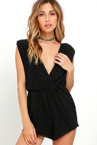 image Billabong Midsummer Tides Washed Black Romper