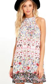 Sashay Today Cream Floral Print Dress