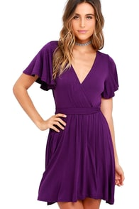 image Day Date Purple Skater Dress