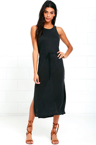 Magic Potion Washed Black Midi Dress
