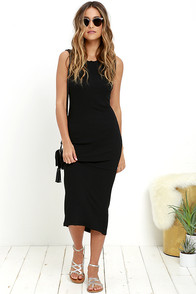 image Olive & Oak Baylee Black Midi Dress